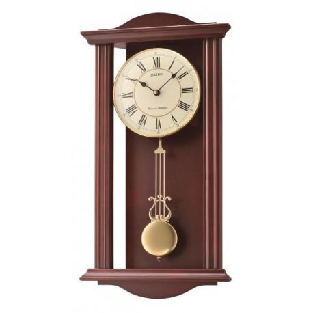 Horloge murale en bois avec balancier - Seiko - QXH072BN